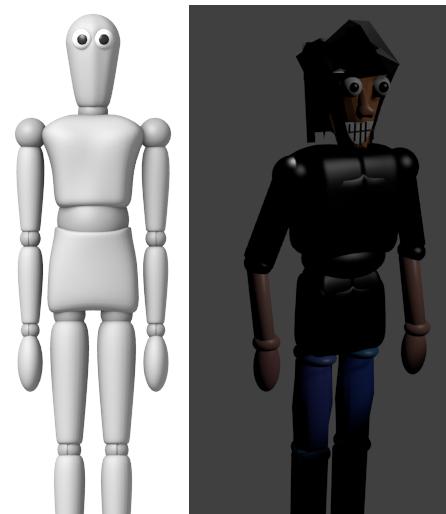 Illustration Squelette et Modélisation