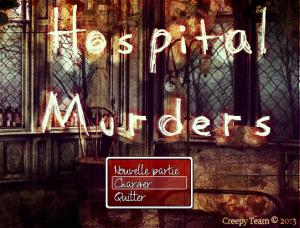 Hospital Murders - Menu Principal